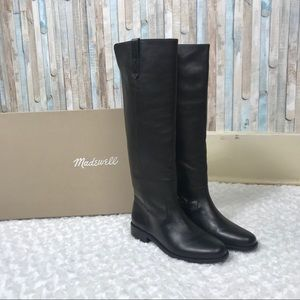NEW Madewell 8 Black Allie Riding Knee High Boots